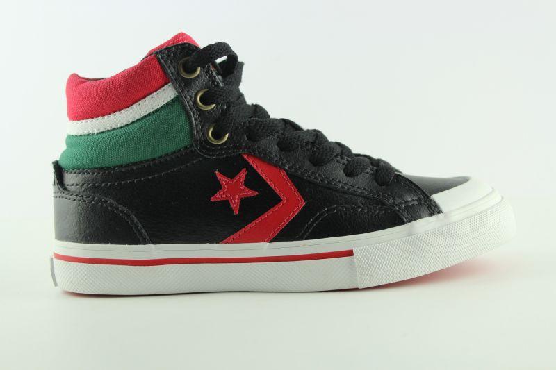 e123 converse pro blaze hi shoes trainers kids black. Black Bedroom Furniture Sets. Home Design Ideas