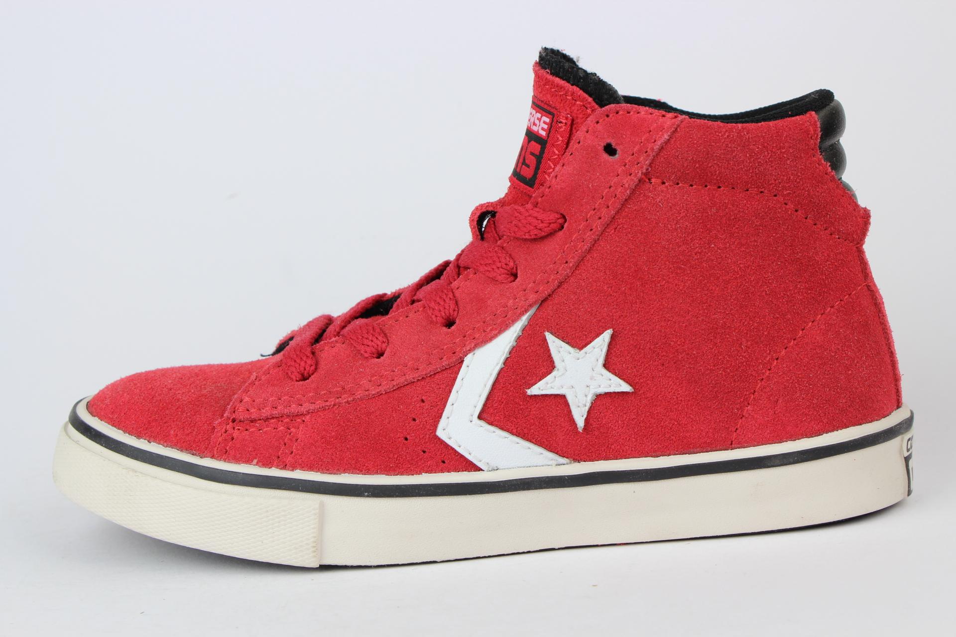 ok300 converse pro leather hi sneaker kids chucks red rot. Black Bedroom Furniture Sets. Home Design Ideas