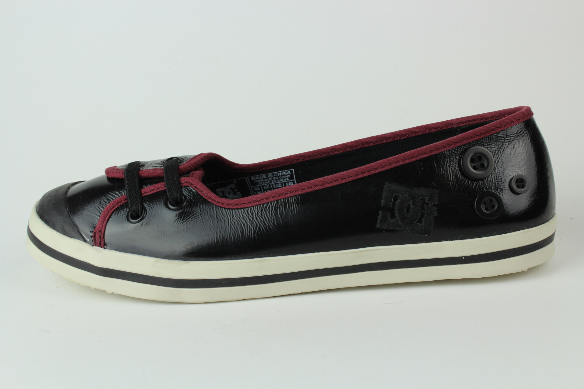 dc shoes w s venice l lx damen slipper sneaker gr 38 5 uk 5 5 301953 schwarz ebay. Black Bedroom Furniture Sets. Home Design Ideas