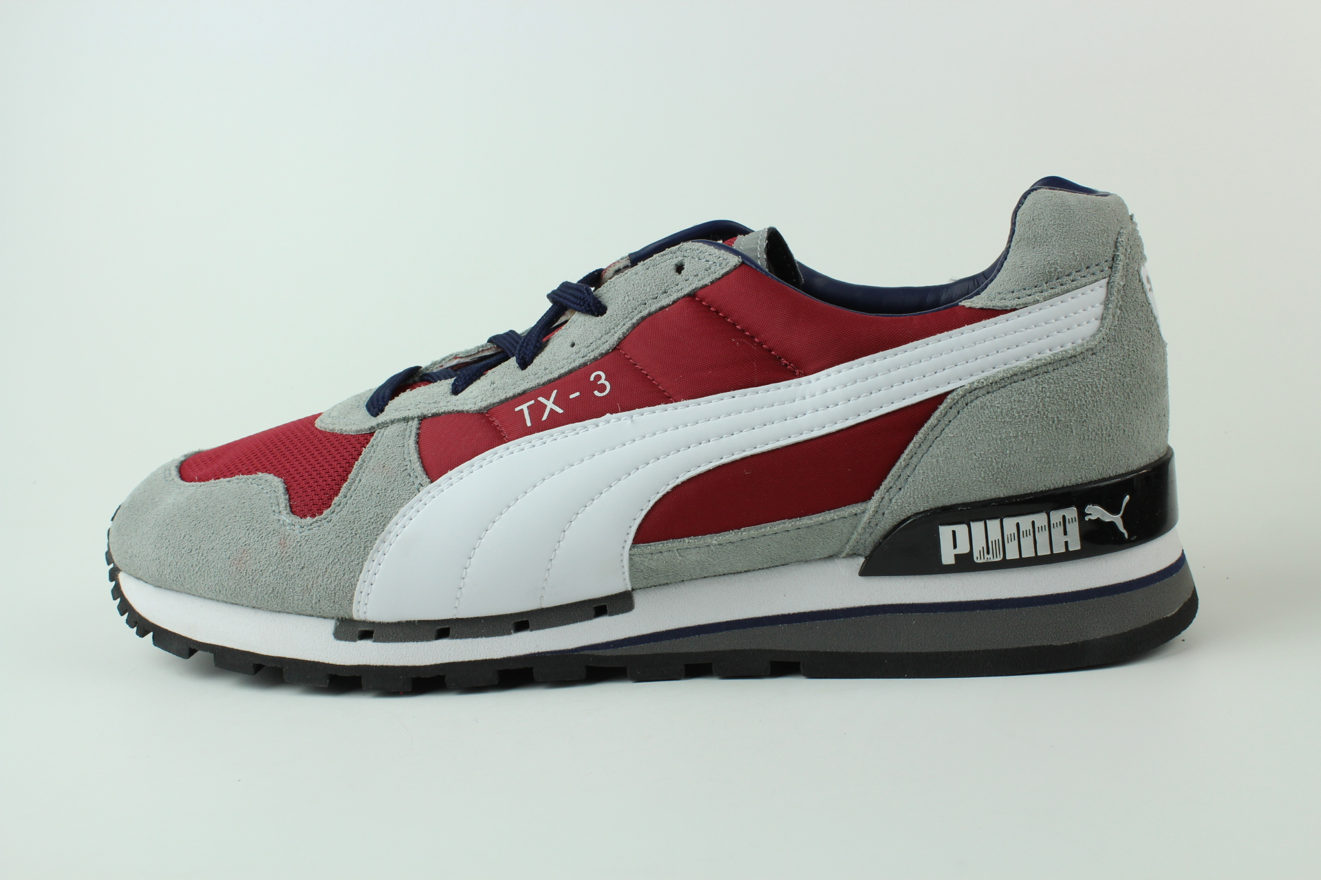 puma tx 3 retro sneaker gr 46 uk 11 schuhe rot grau jester red 341044 80 ebay. Black Bedroom Furniture Sets. Home Design Ideas
