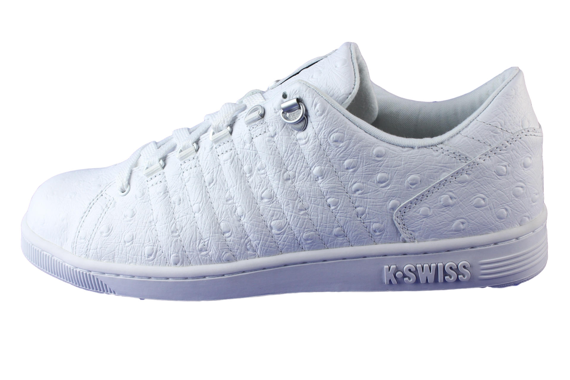 k swiss lozan iii p trainers shoes leather white white. Black Bedroom Furniture Sets. Home Design Ideas